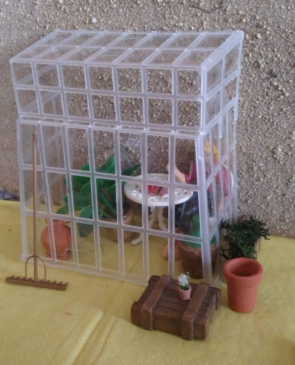 Modell-Gewächshaus